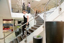 Retail Showroom Stairs - Studio Fourteen Interiors