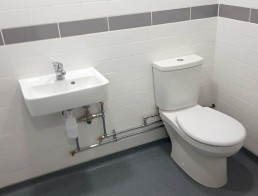 Refurbished Bathroom at Corby Warehouse