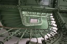 Pistachio Green Staircase